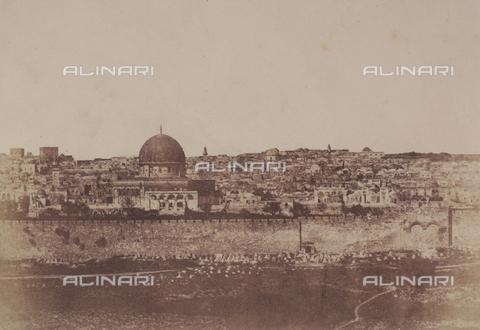 AVQ-A-004115-0006 - La cinta muraria che circonda il tempio di Gerusalemme - Data dello scatto: 1856 - Raccolte Museali Fratelli Alinari (RMFA), Firenze