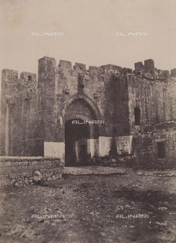 AVQ-A-004115-0013 - La Porta di Jaffa a Gerusalemme - Data dello scatto: 1856 - Raccolte Museali Fratelli Alinari (RMFA), Firenze