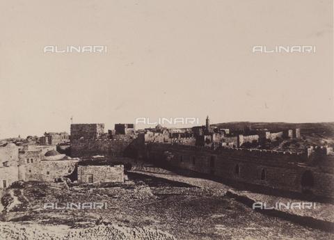 AVQ-A-004115-0014 - La fortezza di Sion a Gerusalemme - Data dello scatto: 1856 - Raccolte Museali Fratelli Alinari (RMFA), Firenze