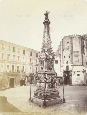 AVQ-A-004117-0016 - The Spire of San Domenico in Naples - Date of photography: 1865 ca. - Fratelli Alinari Museum Collections, Florence