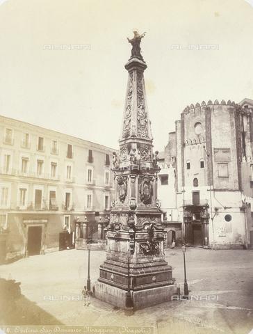 AVQ-A-004117-0016 - La Guglia di San Domenico a Napoli - Data dello scatto: 1865 ca. - Raccolte Museali Fratelli Alinari (RMFA), Firenze