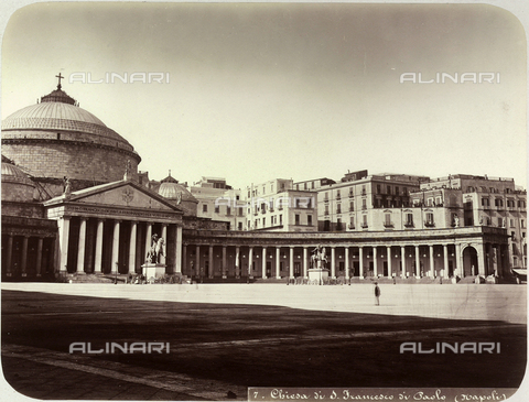 AVQ-A-004117-0019 - Church of San Francesco di Paola, Piazza del Plebiscito, Naples - Date of photography: 1865 ca. - Fratelli Alinari Museum Collections, Florence