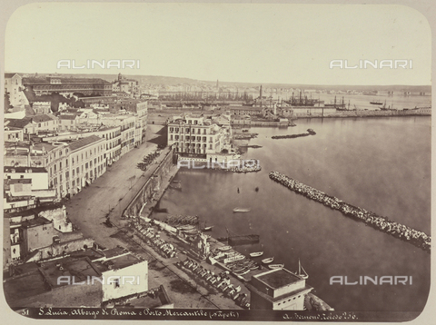 AVQ-A-004117-0020 - View of Santa Lucia, in Naples - Date of photography: 1865 ca. - Fratelli Alinari Museum Collections, Florence