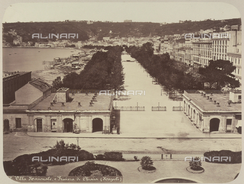 AVQ-A-004117-0021 - View of the Villa Nazionale and the Riviera di Chiaia, in Naples - Date of photography: 1865 ca. - Fratelli Alinari Museum Collections, Florence