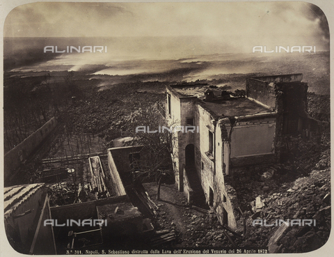 AVQ-A-004117-0029 - The town of San Sebastiano damaged by the eruption of Vesuvius on April 26, 1872 - Data dello scatto: 1872 ca. - Archivi Alinari, Firenze