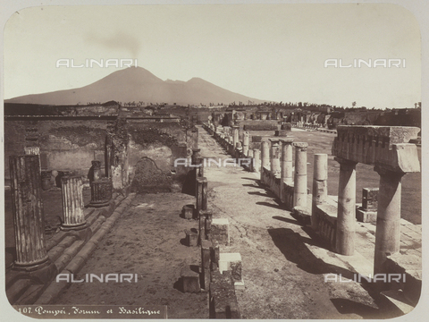 AVQ-A-004117-0032 - The Forum of Pompeii - Date of photography: 1865 ca. - Fratelli Alinari Museum Collections, Florence