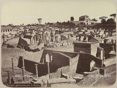 AVQ-A-004117-0050 - View of the archeological site of Pompeii - Date of photography: 1865 ca. - Fratelli Alinari Museum Collections, Florence