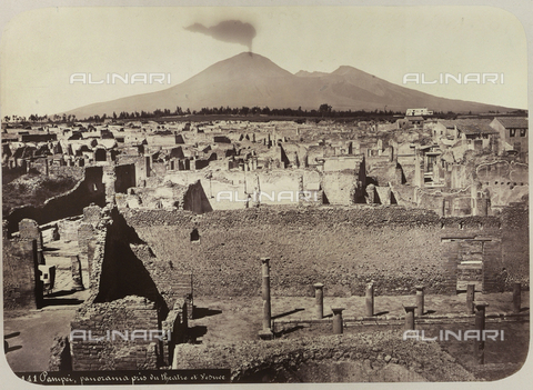 AVQ-A-004117-0051 - View of the archaeological area of Pompeii - Date of photography: 1865 ca. - Fratelli Alinari Museum Collections, Florence
