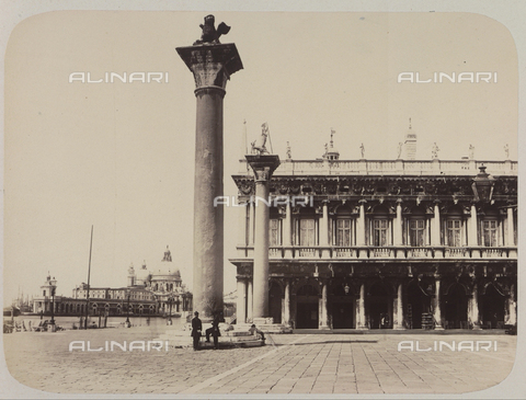 AVQ-A-004117-0057 - View of the Piazzetta San Marco, in Venice - Data dello scatto: 1865 ca. - Archivi Alinari, Firenze
