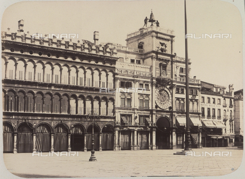 AVQ-A-004117-0059 - The Torre dell'Orologio (Clock Tower) in Venice - Data dello scatto: 1865 ca. - Archivi Alinari, Firenze