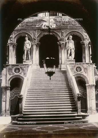 AVQ-A-004117-0065 - The Scala dei Giganti (Stairway of the Giants) in the Palazzo Ducale, Venice - Data dello scatto: 1865 ca. - Archivi Alinari, Firenze