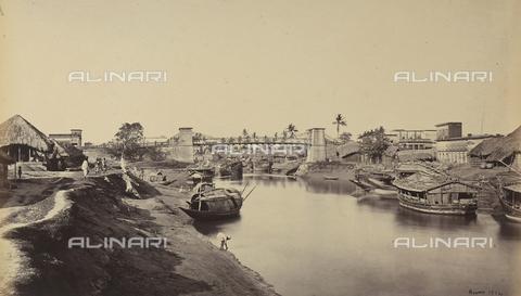 AVQ-A-004121-0006 - Canale di Calcutta, in India - Data dello scatto: 1863-1870 ca. - Raccolte Museali Fratelli Alinari (RMFA), Firenze