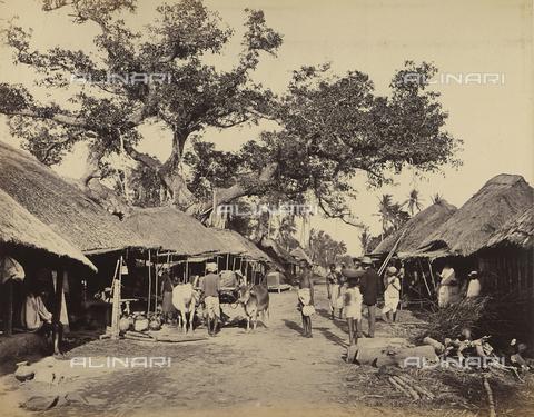 AVQ-A-004121-0007 - Tipici bazar nella periferia di Calcutta, in India - Data dello scatto: 1863-1870 ca. - Raccolte Museali Fratelli Alinari (RMFA), Firenze