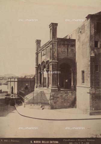 AVQ-A-004127-0029 - Facciata della chiesa di Santa Maria della Catena a Palermo - Data dello scatto: 1875 ca. - Archivi Alinari, Firenze