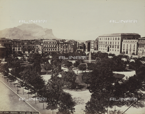 AVQ-A-004127-0034 - View of the Piazza Marina in Palermo, Sicily - Data dello scatto: 1875 ca. - Archivi Alinari, Firenze