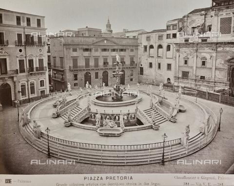 AVQ-A-004127-0035 - The Pretoria Fountain, sculptural work by Francesco Camilliani, located in the Piazza Pretoria, Palermo, Sicily - Data dello scatto: 1875 ca. - Archivi Alinari, Firenze