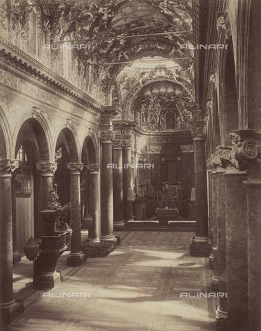AVQ-A-004127-0038 - Interior of the Church of San Giuseppe dei Teatini, in Palermo, Sicily - Data dello scatto: 1875 ca. - Archivi Alinari, Firenze