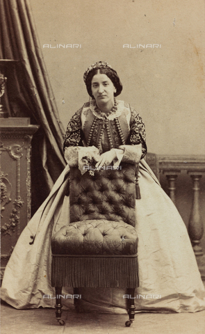 AVQ-A-004221-0010 - Portrait of the wife of Prince Danilo of Montenegro - Data dello scatto: 1850 ca. - Archivi Alinari, Firenze