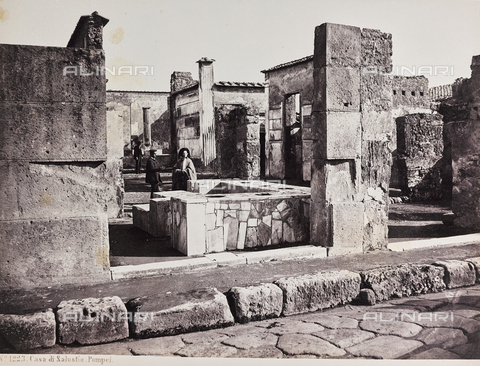 AVQ-A-004278-0043 - House of Sallustio,, Pompeii - Data dello scatto: 1885 ca. - Archivi Alinari, Firenze