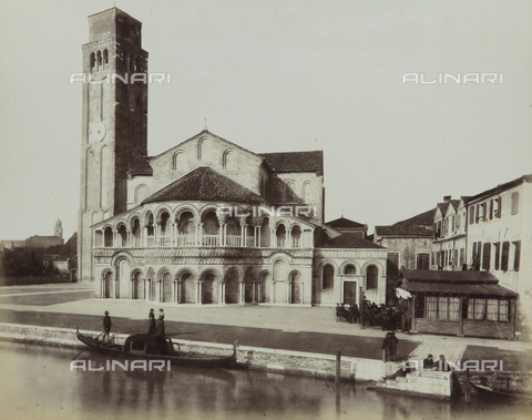 "AVQ-A-004389-0005 - ""Isole della Laguna di Venezia"", view of the Basilica dei Santi Maria e Donato in the Island of Murano, Venice - Data dello scatto: 1880-1890 - Archivi Alinari, Firenze"
