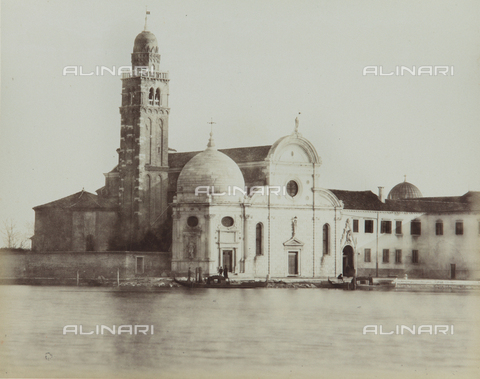 "AVQ-A-004389-0013 - ""Isole della Laguna di Venezia"", view of the Island of San Michele with the Church of San Michele in Isola, Venice - Data dello scatto: 1880-1890 - Archivi Alinari, Firenze"