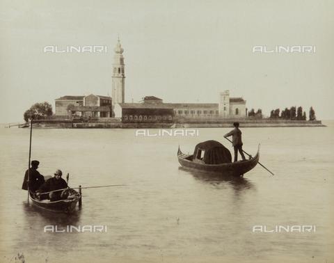 """AVQ-A-004389-0014 - """"Isole della Laguna di Venezia"""", view of the Island of San Lazzaro degli Armeni, Venice - Data dello scatto: 1880-1890 - Archivi Alinari, Firenze"""