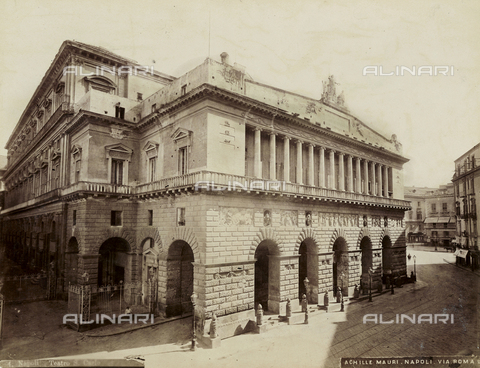 AVQ-A-004646-0023 - View of the external of the St. Carlo Theater in Naples - Date of photography: 1885 ca. - Fratelli Alinari Museum Collections, Florence