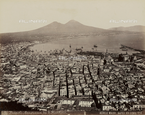 AVQ-A-004646-0074 - Panorama of Naples from the Certosa of St. Martino - Date of photography: 1885 ca. - Fratelli Alinari Museum Collections, Florence