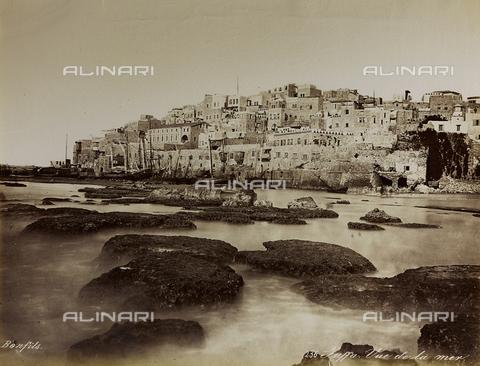 """AVQ-A-004884-0009 - Album """"Palestine 1887"""": veduta di Giaffa - Data dello scatto: 1887 - Archivi Alinari, Firenze"""
