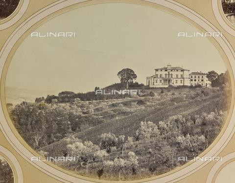 AVQ-A-004912-0004 - View of Villa Vrindavana, formerly Villa Fenzi, Sant 'Andrea in Percussina, San Casciano val di Pesa - Date of photography: 1890-1900 - Fratelli Alinari Museum Collections, Florence