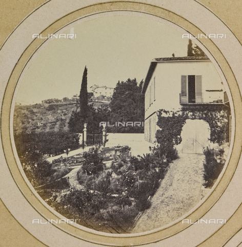 AVQ-A-004912-0007 - View of Villa Vrindavana, formerly Villa Fenzi, Sant 'Andrea in Percussina, San Casciano val di Pesa - Date of photography: 1890-1900 - Fratelli Alinari Museum Collections, Florence