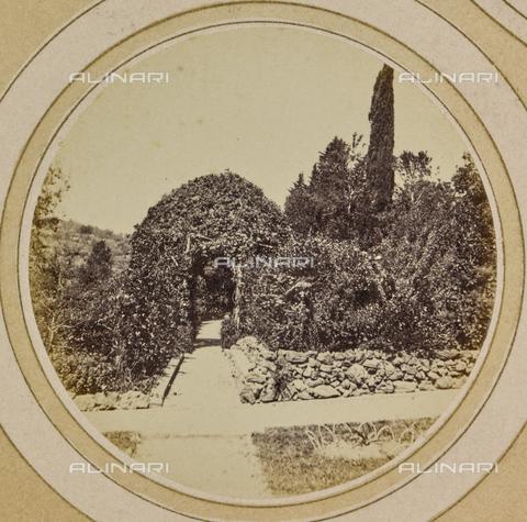AVQ-A-004912-0010 - Garden of Villa Vrindavana, formerly Villa Fenzi, Sant 'Andrea in Percussina, San Casciano val di Pesa - Date of photography: 1890-1900 - Fratelli Alinari Museum Collections, Florence