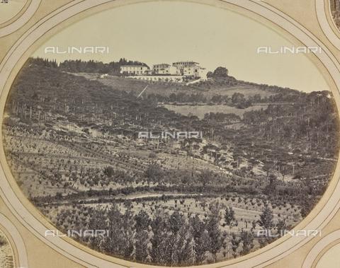 AVQ-A-004912-0019 - Panoramic view with Villa Vrindavana, formerly Villa Fenzi, Sant 'Andrea in Percussina, San Casciano val di Pesa - Date of photography: 1890-1900 - Fratelli Alinari Museum Collections, Florence