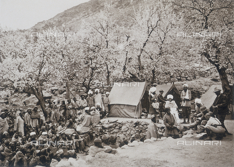 BAF-A-004889-0004 - The expedition to Karakorum and the western Himalaya's by Prince Luigi Amedeo of Savoy, Duke of Abruzzi: base camp at Olthingthang - Data dello scatto: 1909 - Archivi Alinari, Firenze