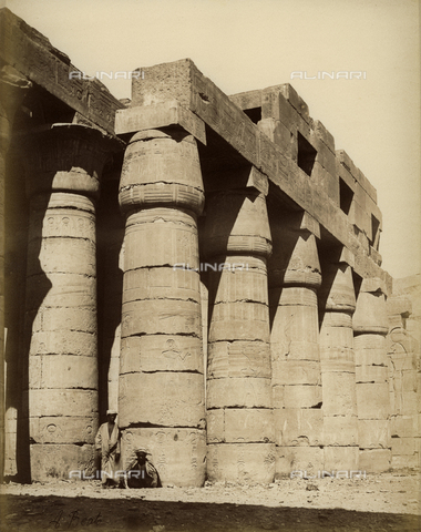 """BAQ-A-001543-0091 - Egypt. """"Rammesseum, Colonnes du temple"""" - Data dello scatto: 1880 ca. - Archivi Alinari, Firenze"""