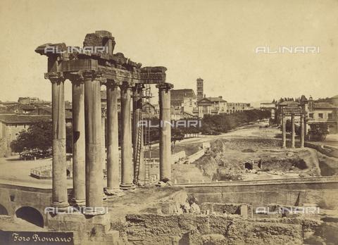 BBA-F-000478-0000 - Veduta del Foro Romano - Data dello scatto: 1870 ca. - Raccolte Museali Fratelli Alinari (RMFA)-archivio Betti Borra, Firenze