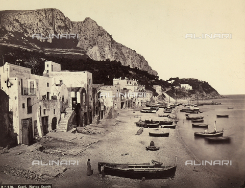 BCC-F-000138-0000 - A view of the Marina Grande in Capri - Data dello scatto: 1880-1890 ca. - Archivi Alinari, Firenze