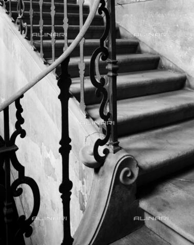 BEN-F-014713-0000 - Staircase, 1426 (1878), Lorenzo di Bicci (Poggi, Giuseppe), Palazzo Capponi delle Rovinate, Florence - Raffaello Bencini/Alinari Archives, Florence