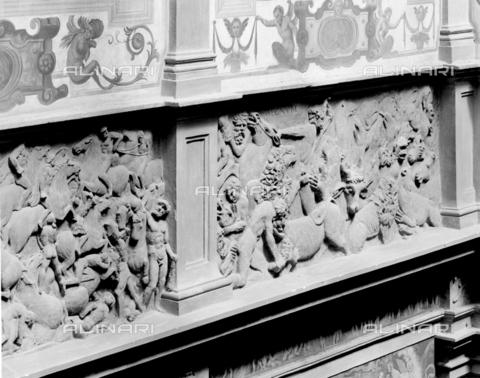 BEN-F-014727-0000 - Bas Relief, 1480, Bertoldo di Giovanni (Florence about 1435 to 1491), Palazzo della Gherardesca or Scale-Gherardesca, Florence - Raffaello Bencini/Alinari Archives, Florence