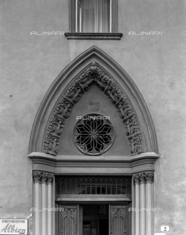 BEN-F-014743-0000 - Facade, door, 1847, Ignatius House Villa (Villa Palace), Florence - Raffaello Bencini/Alinari Archives, Florence