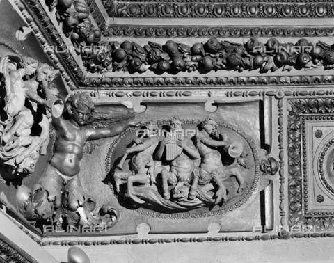 BEN-F-014752-0000 - Bas Relief, Perino del Vaga, Pellegrino Tibaldi, Domenico Rietti (told Zaga), Marco Pino, Girolamo Siciolante, Livio Agresti and Giacomo Bertucci (said Giacomone from Faenza), Castel Sant'Angelo, also known as Hadrian's Mausoleum Sala Paolina, Rome - Raffaello Bencini/Alinari Archives, Florence, Reproduced with the permission of Ministero per i Beni e le Attività Culturali