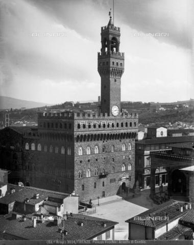 BGA-F-003034-0000 - Palazzo Vecchio, Piazza della Signoria, Florence - Date of photography: 1890 ca. - Alinari Archives-Brogi Archive, Florence
