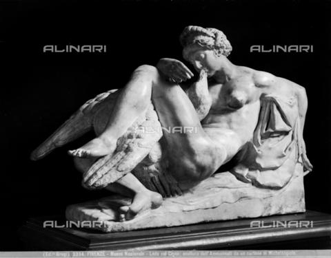 BGA-F-003334-0000 - Leda con il cigno, statua in marmo di Bartolomeo Ammannati, Museo Nazionale del Bargello, Firenze - Data dello scatto: 1890 ca. - Archivi Alinari, Firenze