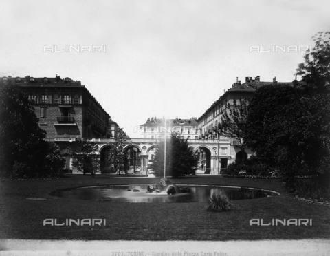 BGA-F-003703-0000 - Garden, Carlo Felice Square, Turin.