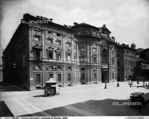 BGA-F-003717-0000 - Faà§ade of the Palazzo Carignano, Guarino Guarini, Turin