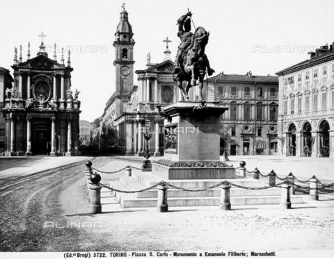 BGA-F-003722-0000 - Equestrian monument to Emanuel Philibert, Carlo Marocchetti, Piazza San Carlo, Turin