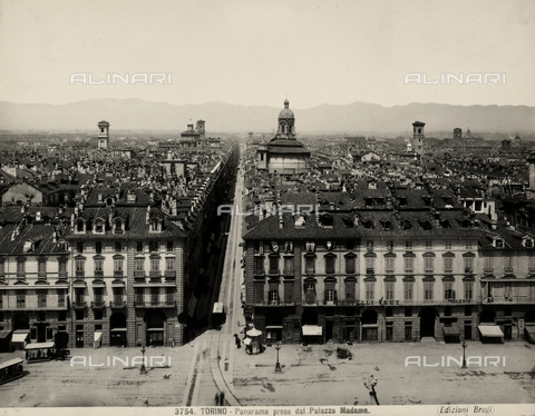 BGA-F-003754-0000 - View of Turin shot from the Madama Palace.
