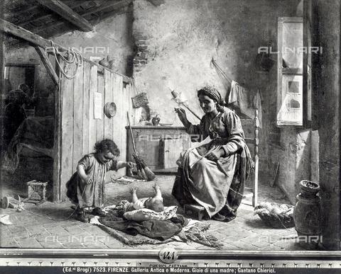 BGA-F-007523-0000 - Gioie di una madre, opera di Gaetano Chierici, Galleria d'Arte Moderna, Firenze - Data dello scatto: 1890 ca. - Archivi Alinari, Firenze