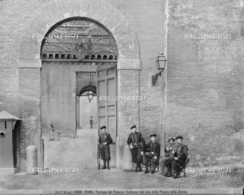 BGA-F-008608-0000 - The Gate is called by the Swiss in the Vatican Palace - Date of photography: 1890 ca. - Alinari Archives-Brogi Archive, Florence