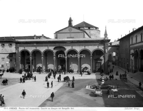 BGA-F-008615-0000 - Portico of the Basilica of the Santissima Annunziata, Florence